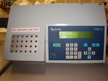 Image of a thermo cycler used in PCR.