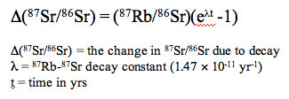 Rb-Sr decay equation