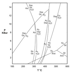 Phase diagram for the ASH system