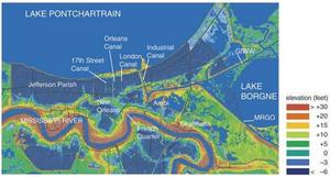 Topography of New Orleans.