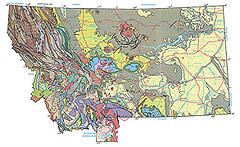 Geologic Map of Montana.