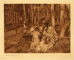 Assiniboine Mother and Child.