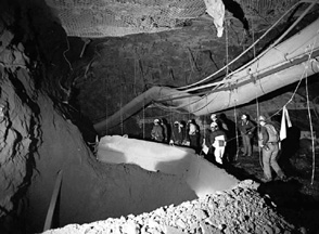 Inside Homestake Mine, Black Hills, South Dakota.