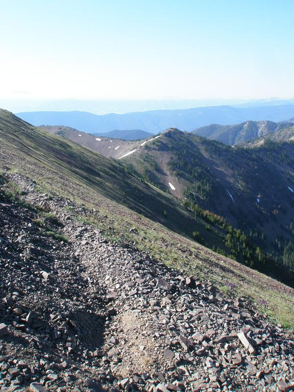 Hyalite Peak, looking north
