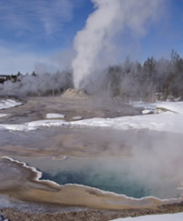 Lion Geyser, Old Faithful Geyser Basin.