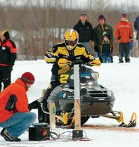 Clean snowmobile challenge.