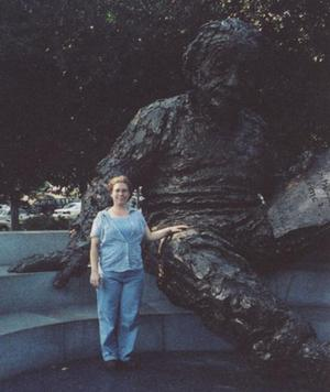 Picture of Heather Rissler with A. Einstein
