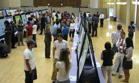 July 2009 LSU Poster forum showcases undergraduate student research.