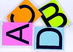 Las letras ABCD