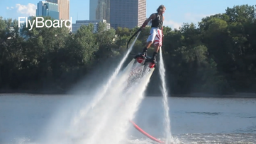 screen shot from Flyboard background video