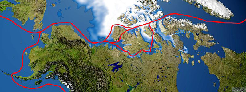 Alaska center of Arctic shipping routes