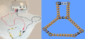 Real Circuit and Circuit Construction Kit simulation
