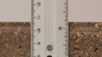 image of a ruler used to measure width of a brick