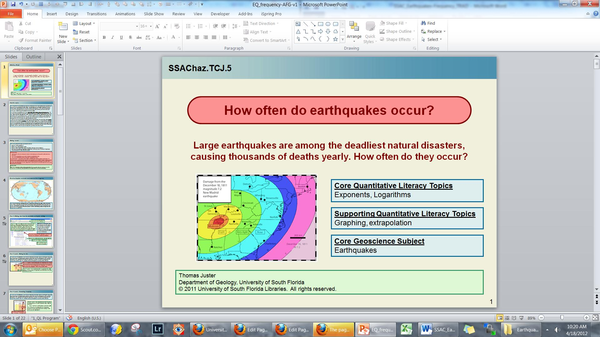 earthquake frequency and magnitude relationship