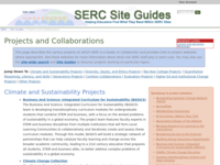 Go to /serc/site_guides/projects.html